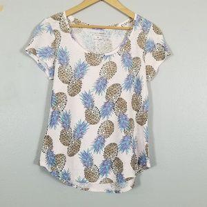 Lucky Brand shirt top pineapples M
